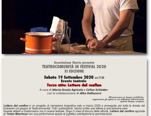 Lettere dal confino – Evento teatrale al Teatro Marchesa